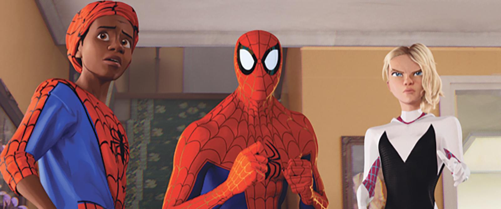 Shameik Moore, Jake Johnson and Hailee Steinfeld Spiderman into the Spider-Verse