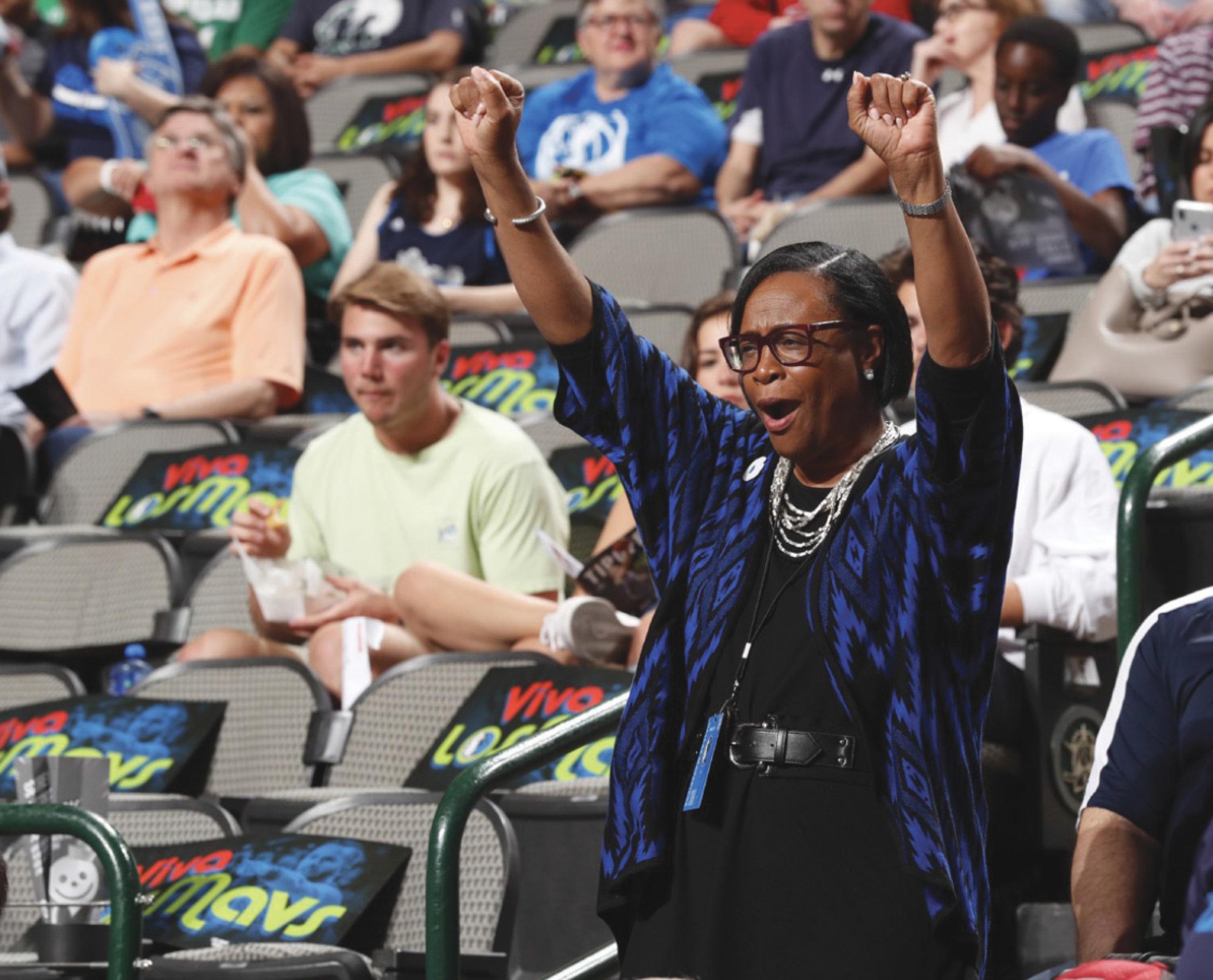 Cynthia Marshall - A Woman for all Seasons. (Dallas Mavericks courtesy photo)