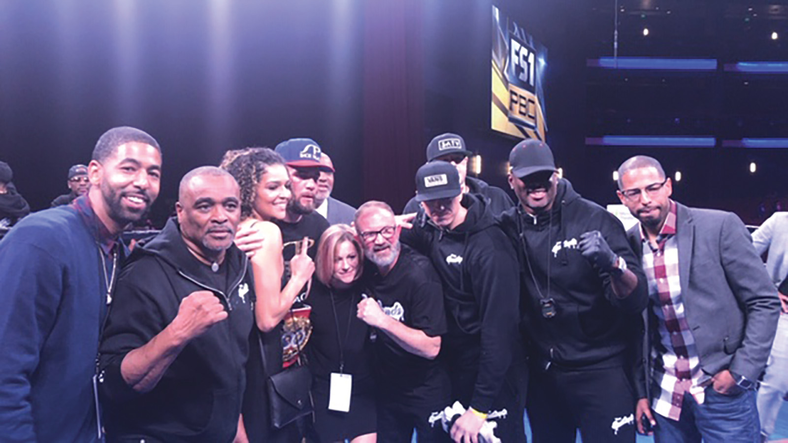 Team Plant celebrate Caleb Plants IBF Super Middleweight Championship win. (What's good in sports photo)
