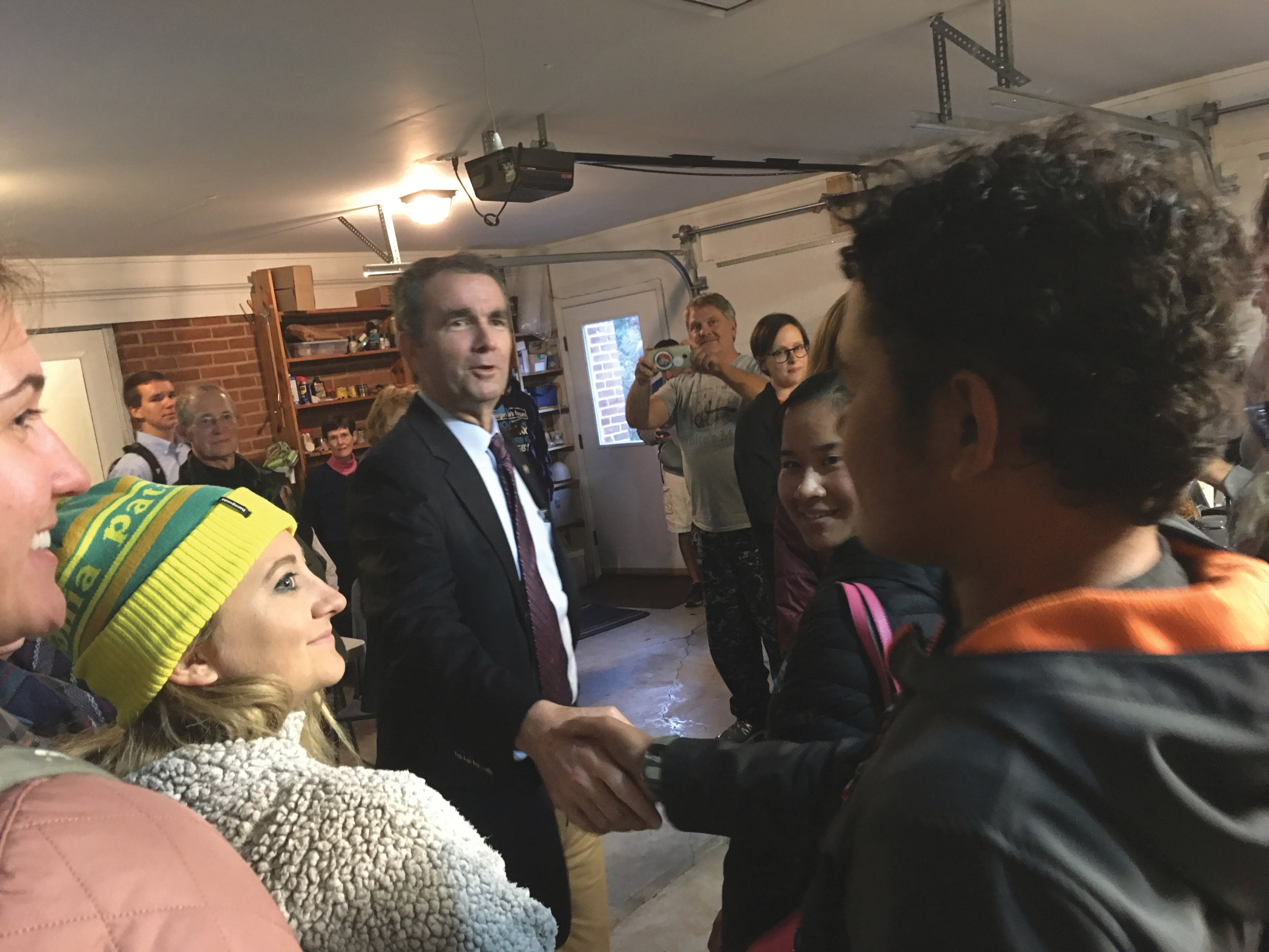 Ralph Northam meeting with volunteers in Blacksburg, VA (2017).