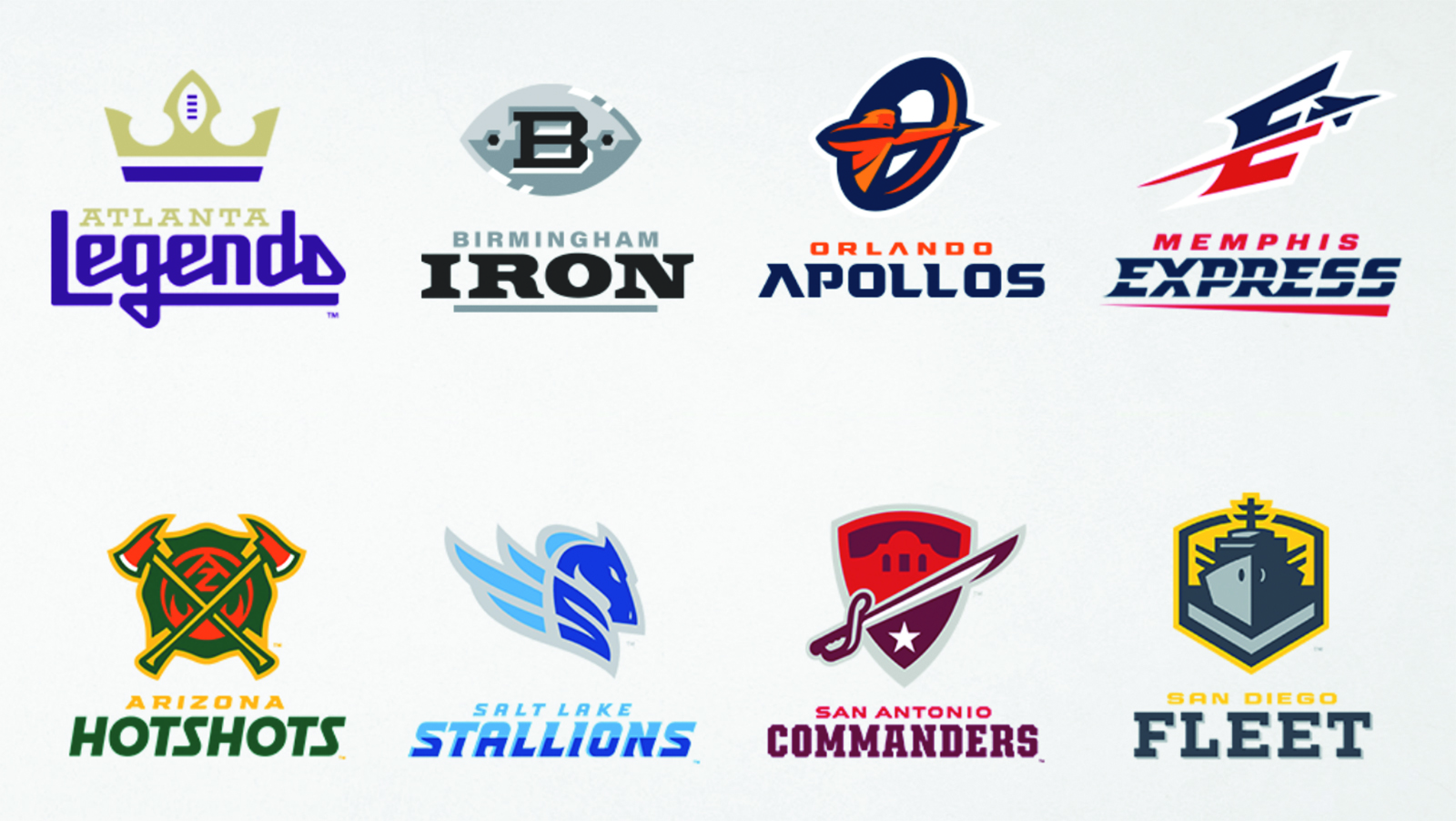 These are the 8 teams for competing in the AAF inaugural season. (Bing Photos picture)