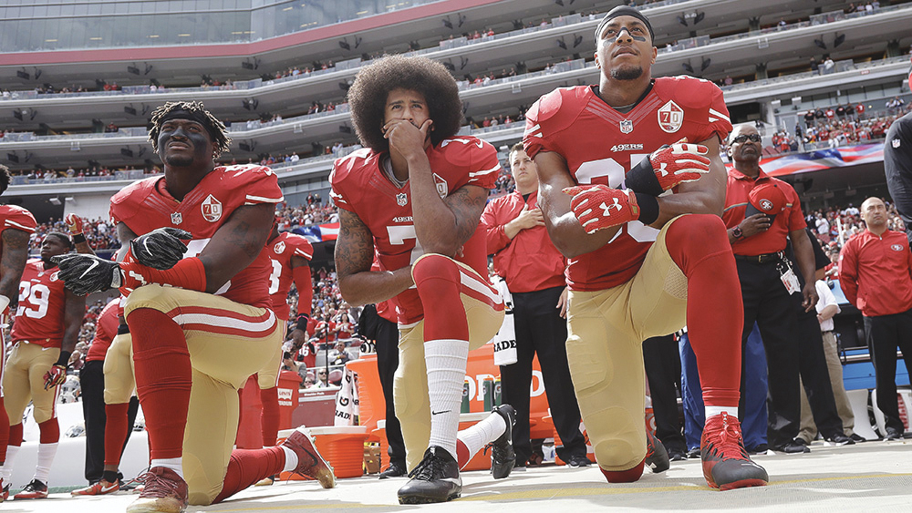 Colin Kaepernick (MARCIO JOSE SANCHEZ/AP/REX/SHUTTERSTOCK photo caption)