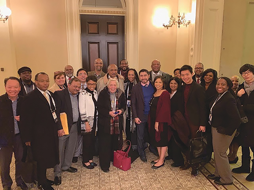 Ethnic media representatives from around the state at the State Capitol for CNPA annual conference. (CBM photo)