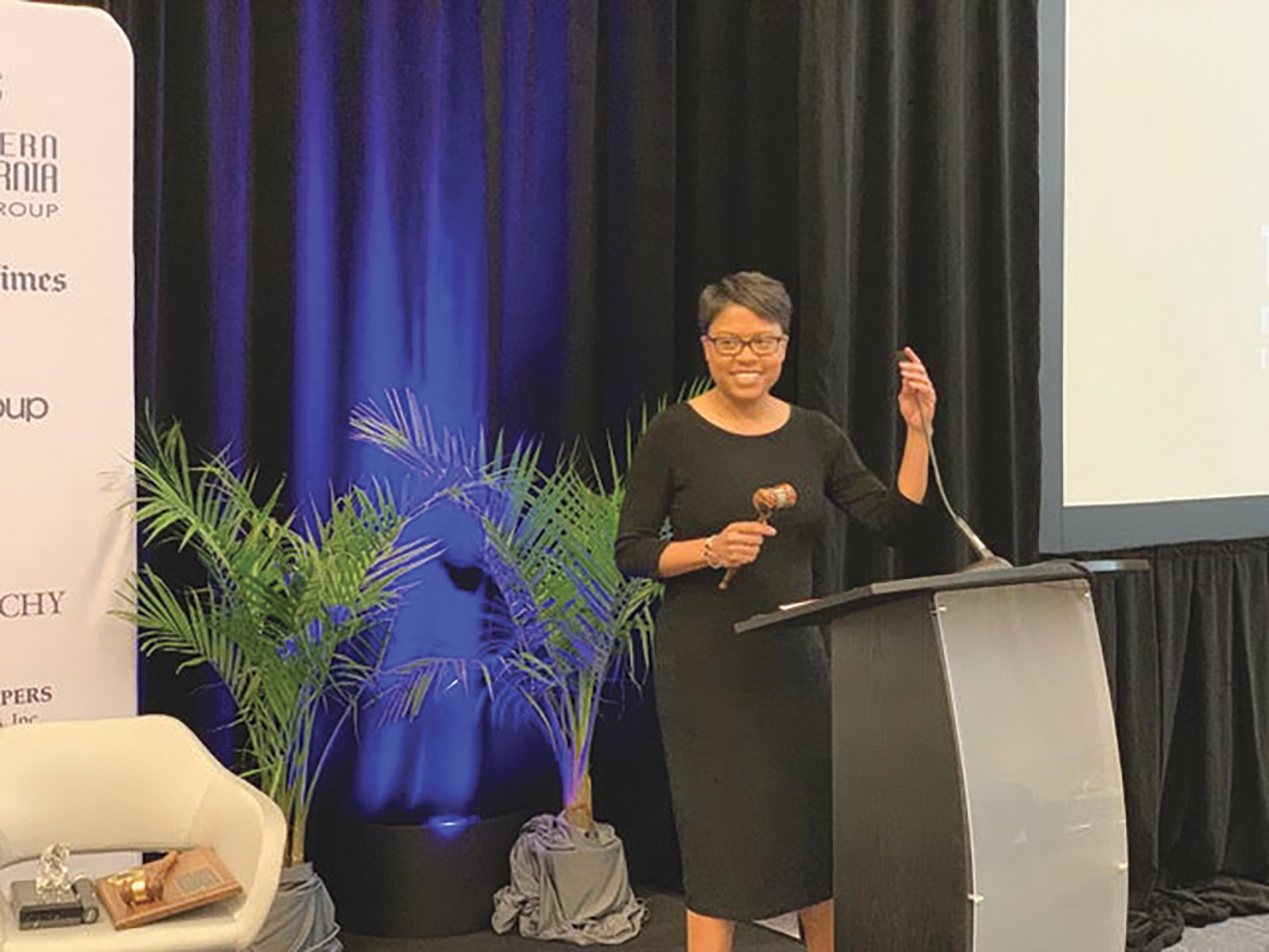 CNPA President Dr. Paulette Brown-Hinds, Publisher of Black Voice News (CBM photo)