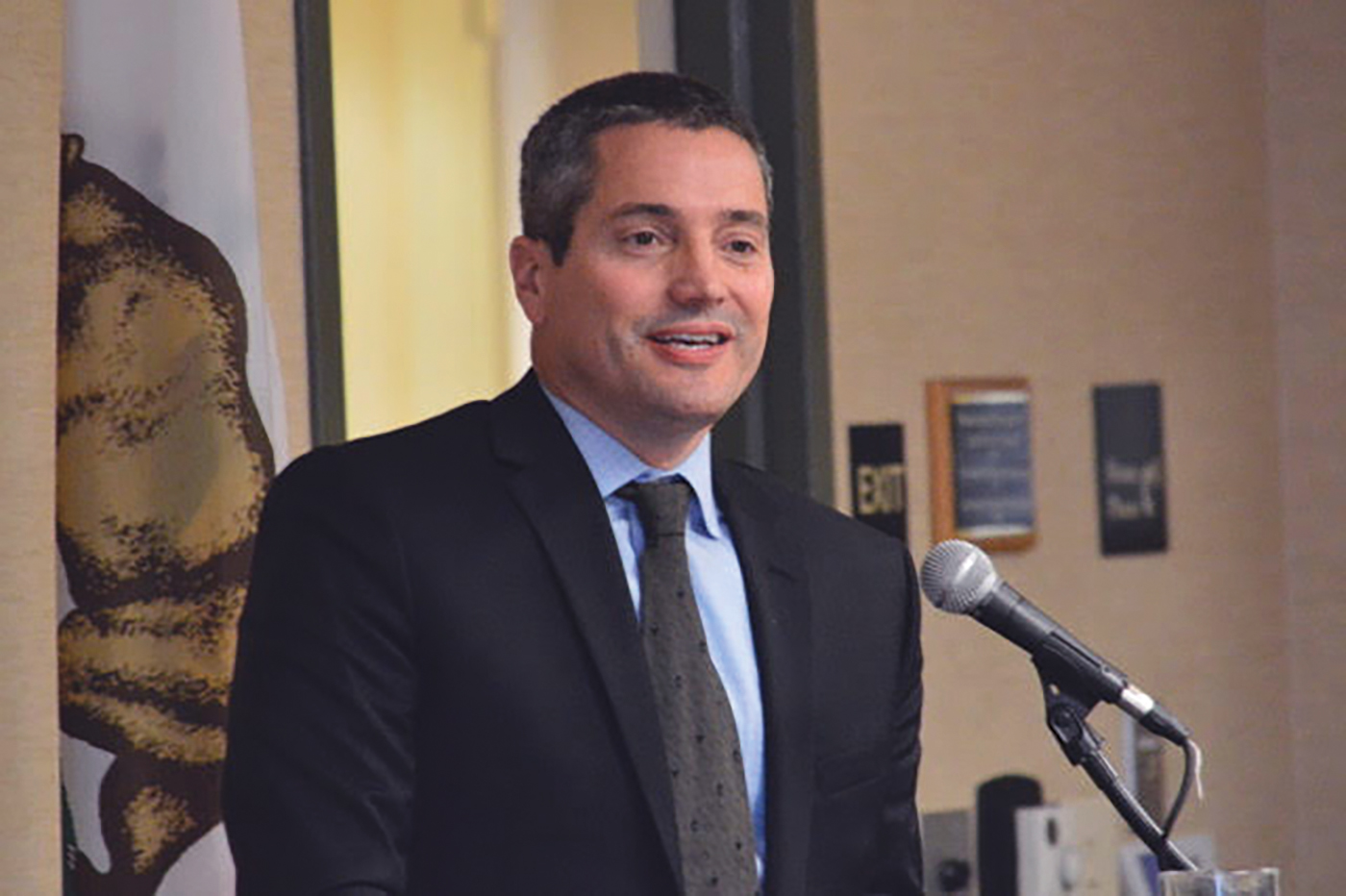 Wade Crowfoot, the states' Secretary for Natural Resources, explained to members of the California Black Chamber of Commerce how the governor's proposed water tax would work. (Antonio R. Harvey photo)