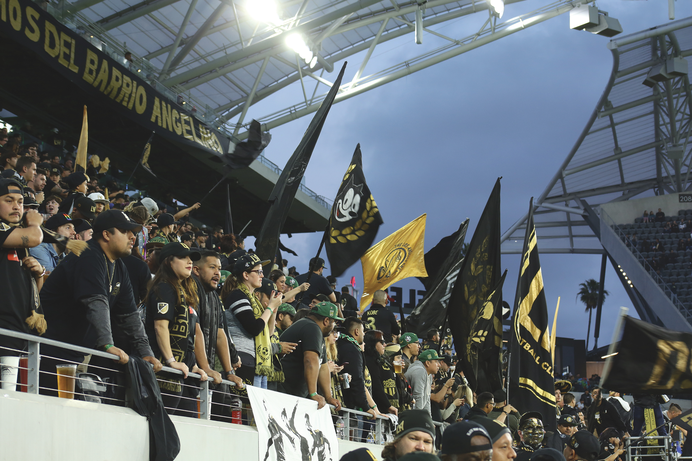 3252 fans cheering on LAFC during their match-up with RSL on March 23. (Photo Credit: Mas Shaygan)