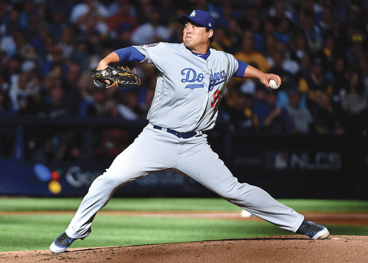 Hyun-Jin Ryu pitched 6 and 2/3 innings in the Dodger opener. (courtesy photo)