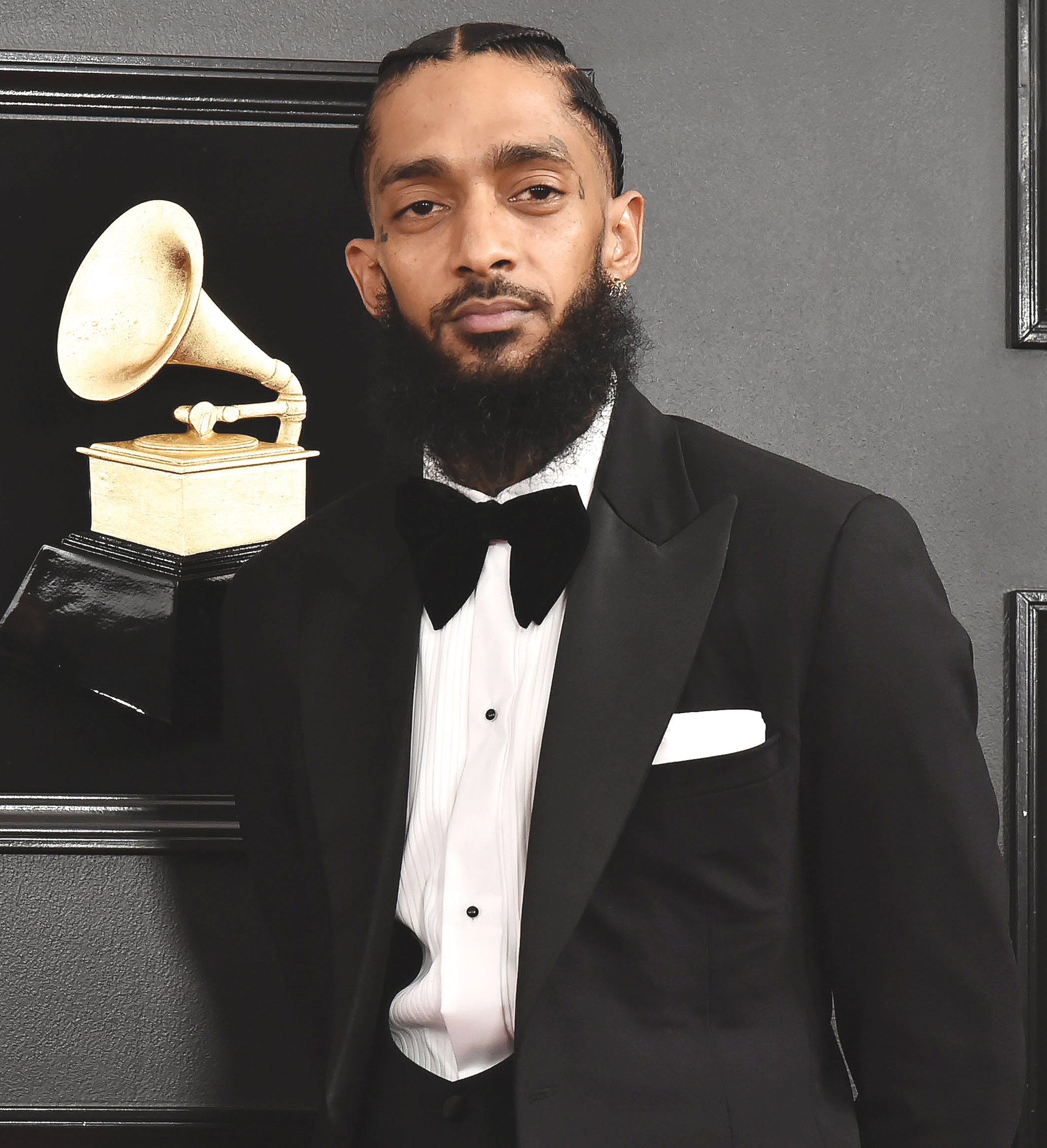 Nipsey Hussle at the 2019 Grammy Awards this past February. (David Crotty/Patrick McMullan via Getty Images)