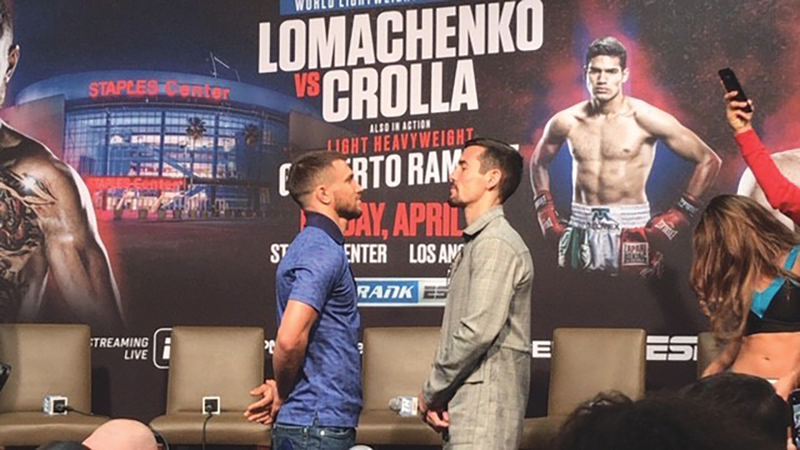 Vasilik Lomachenko punishes Anthony Crolla at Staples Center this past Friday night as he defended his Unified Lightweight Championship.