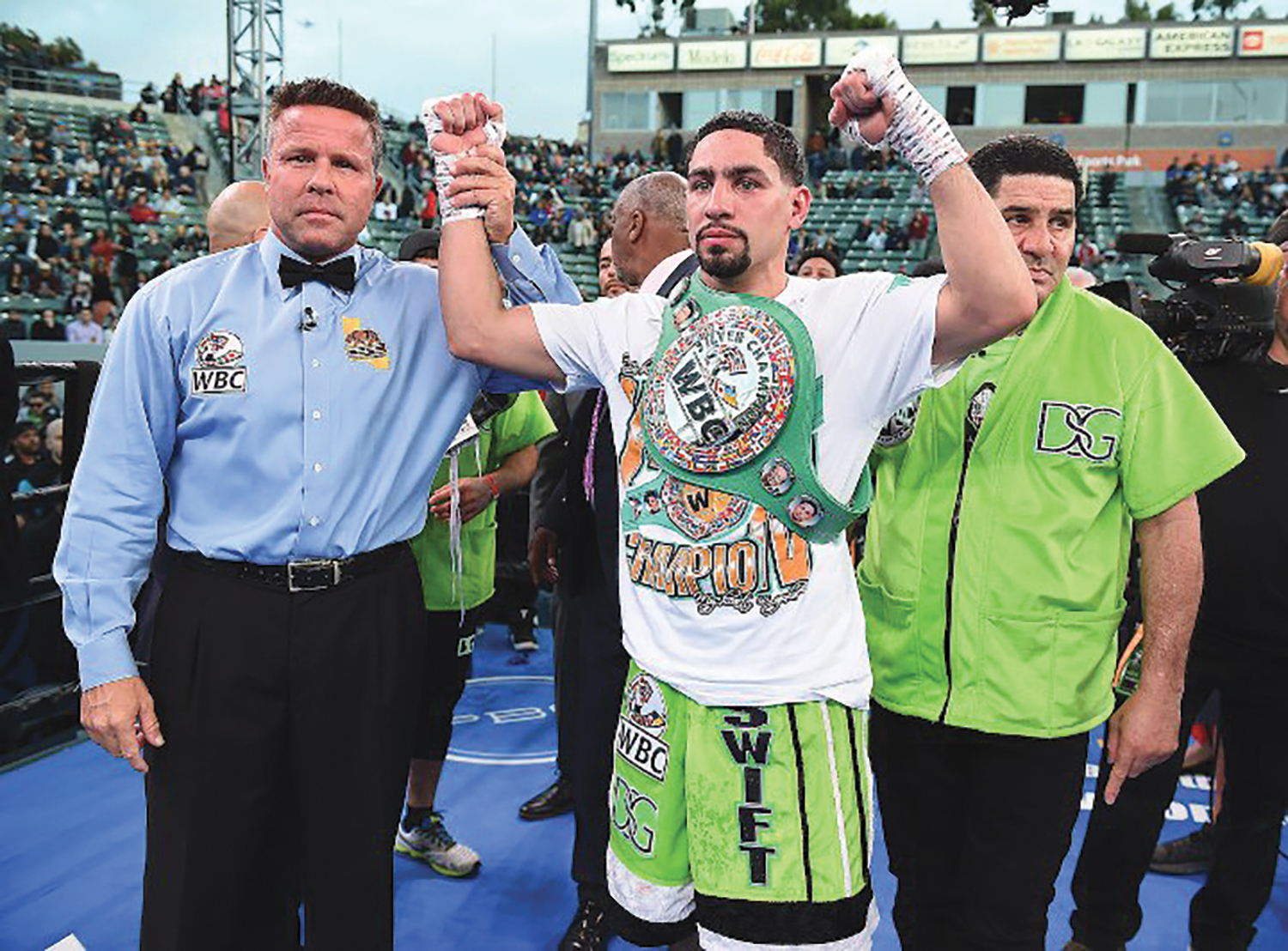 Former two-division champion Danny Garcia stopped Adrian Granados with a seventh-round TKO. (photo by Fox Sports, Leo Wilson, Sean Ham)