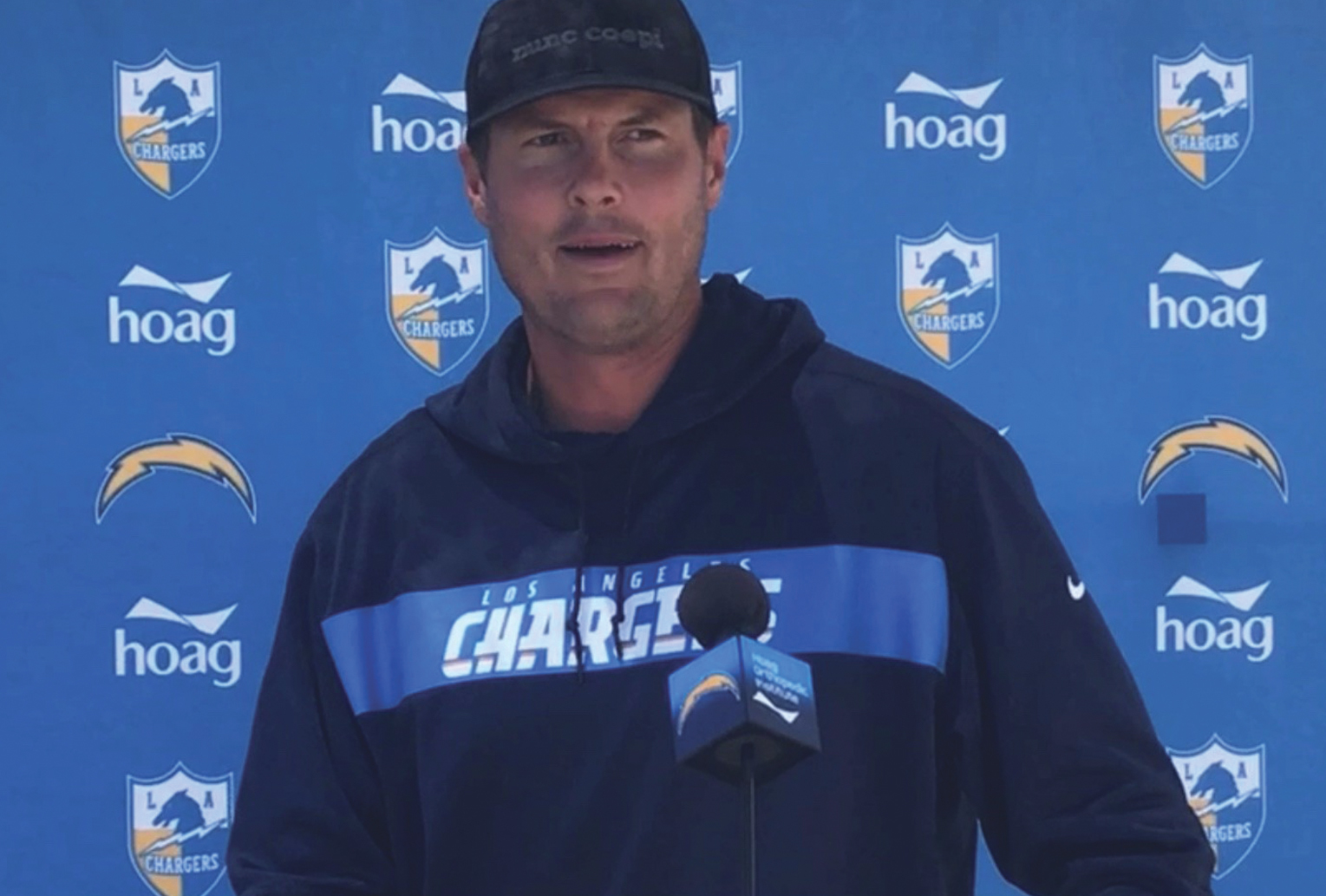 Los Angeles Chargers Quarterback Phillip Rivers. (Photo Credit: Cameron Buford/Voice of the Fans)