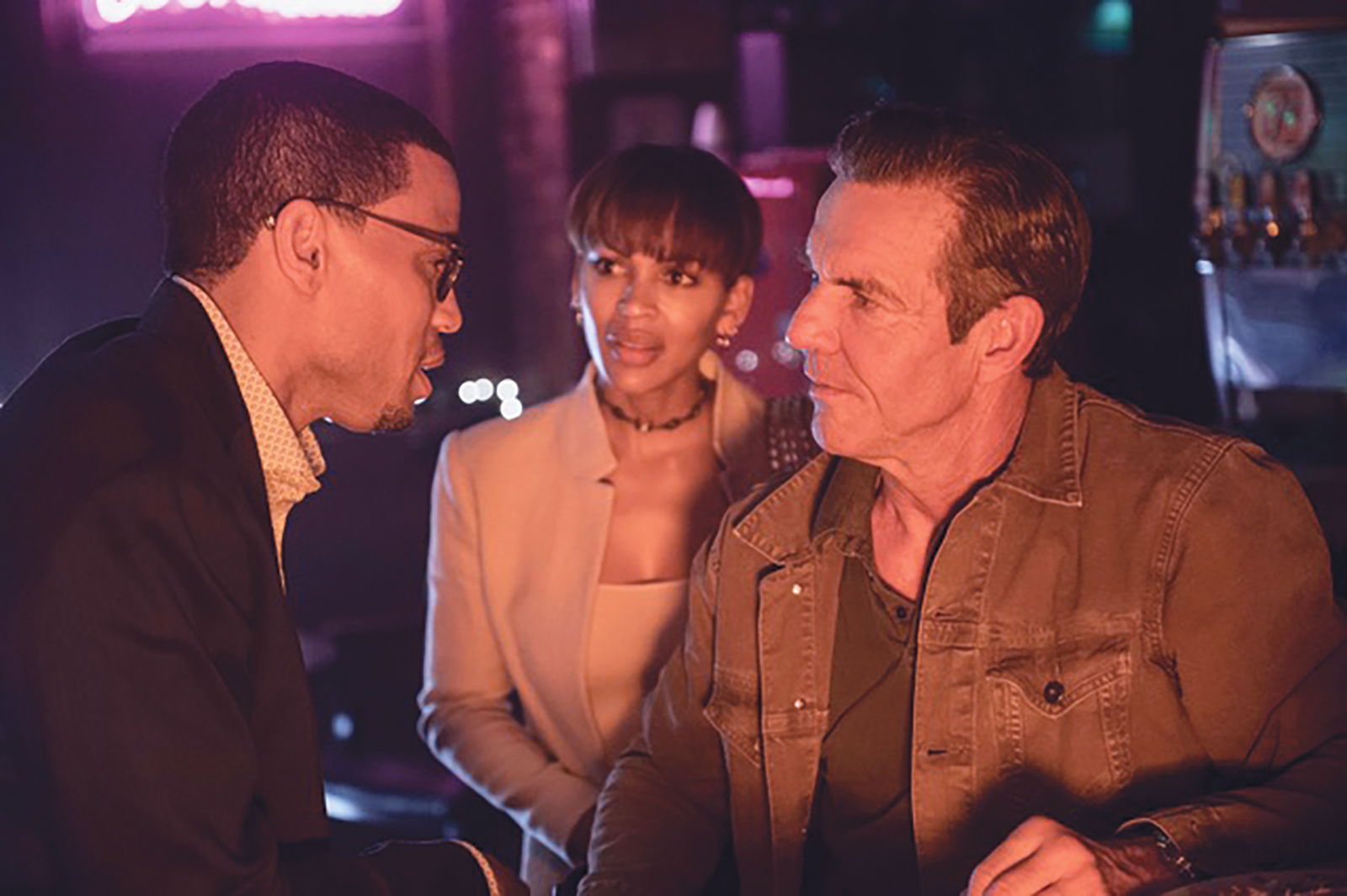 Michael Ealy, Meagan Good and Dennis Quaid in the-intruder. (courtesy photo)