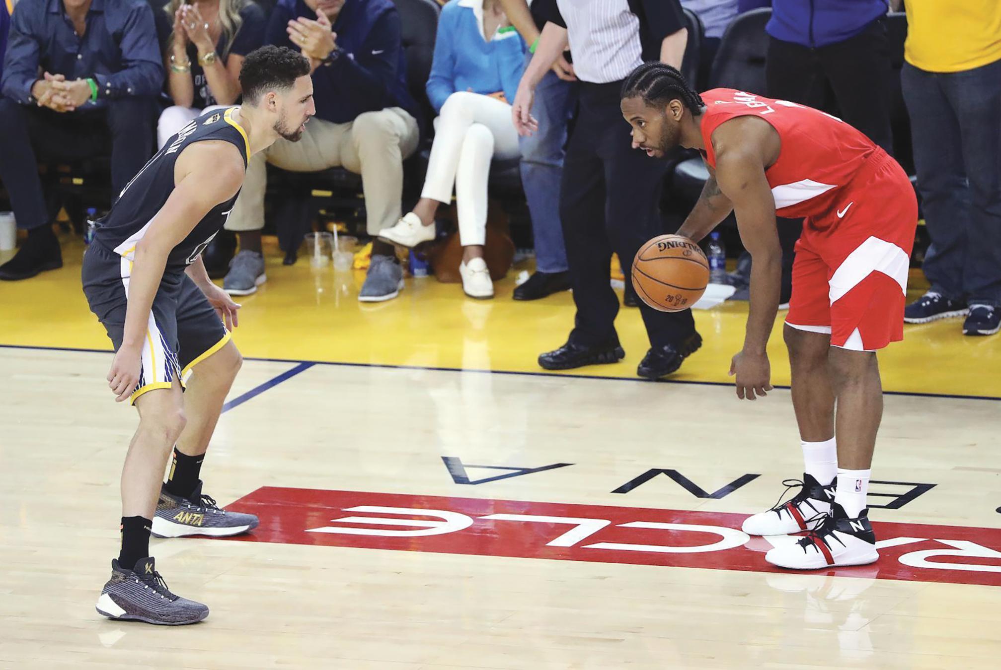 Kawhi Leonard's hot hand is sending the Raptors home to Toronto on the cusp of their first NBA championship. (NBA.com photo)
