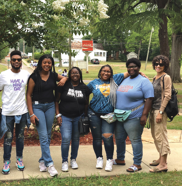 Umoja students, including Tonysha Miles who transferred from BC and participated in the Umoja program. (Dr. Paula L. Parks photo)