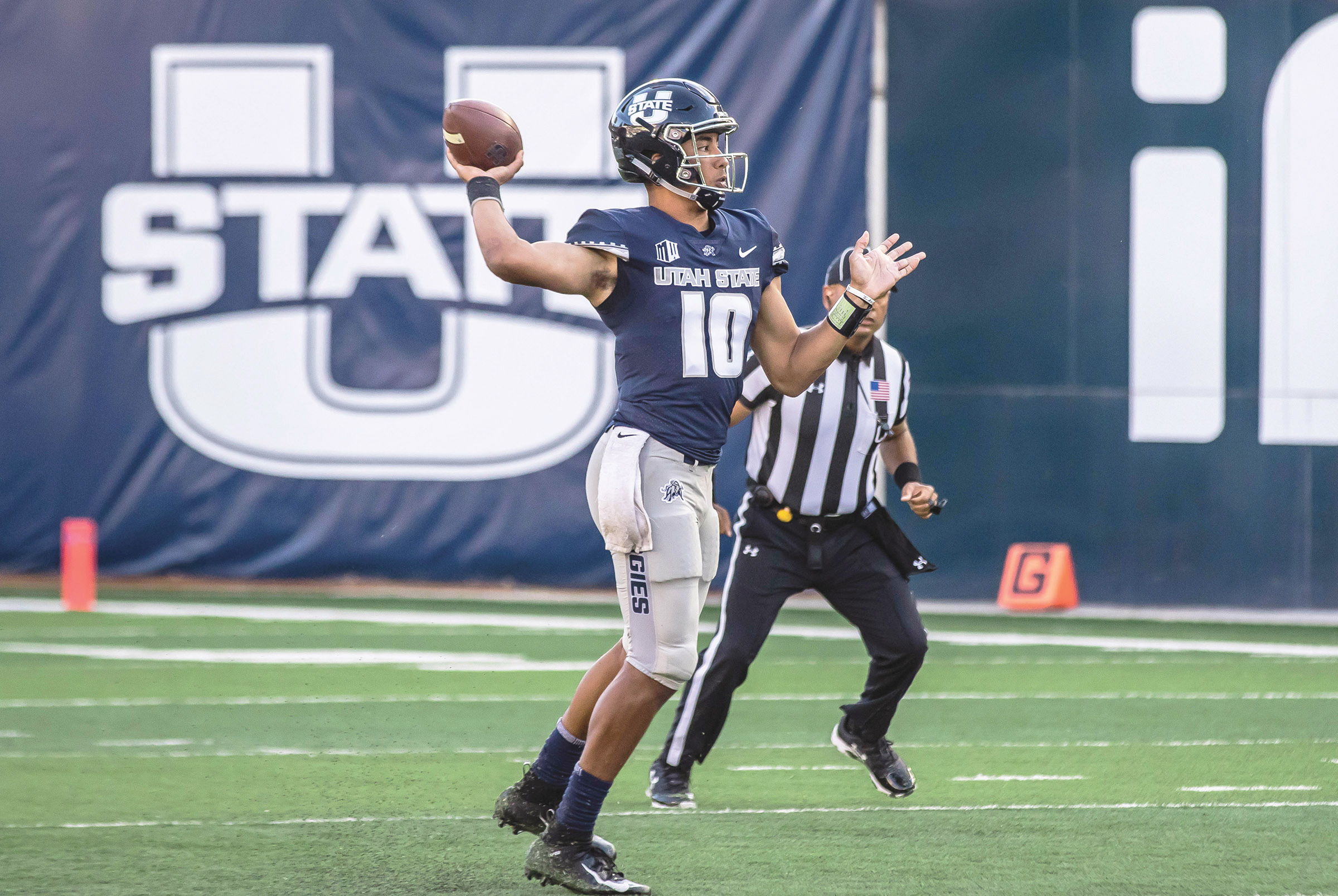 Jordan Love in one of the top players in MWC heading into the fall. (Photo Credit: USU Athletics)