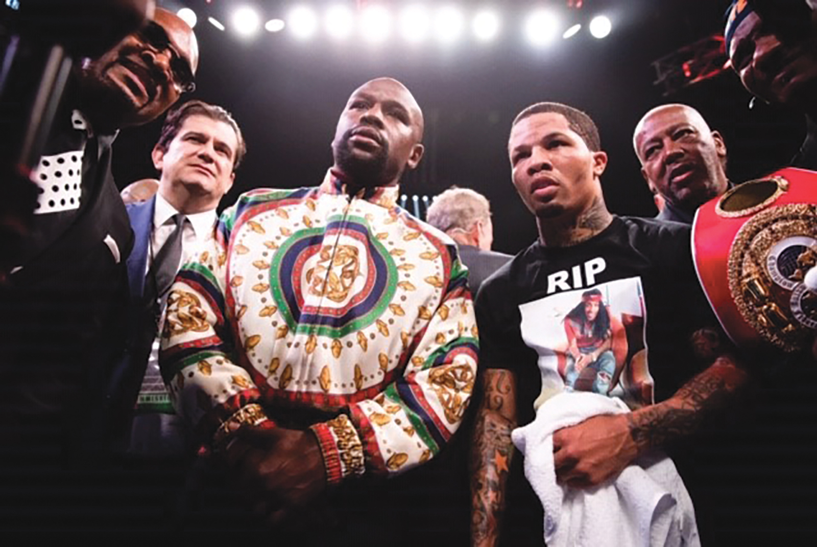 Davis after victory in his hometown debut with Promotor Floyd Mayweather. (Photo Credit: Amanda Westcott)