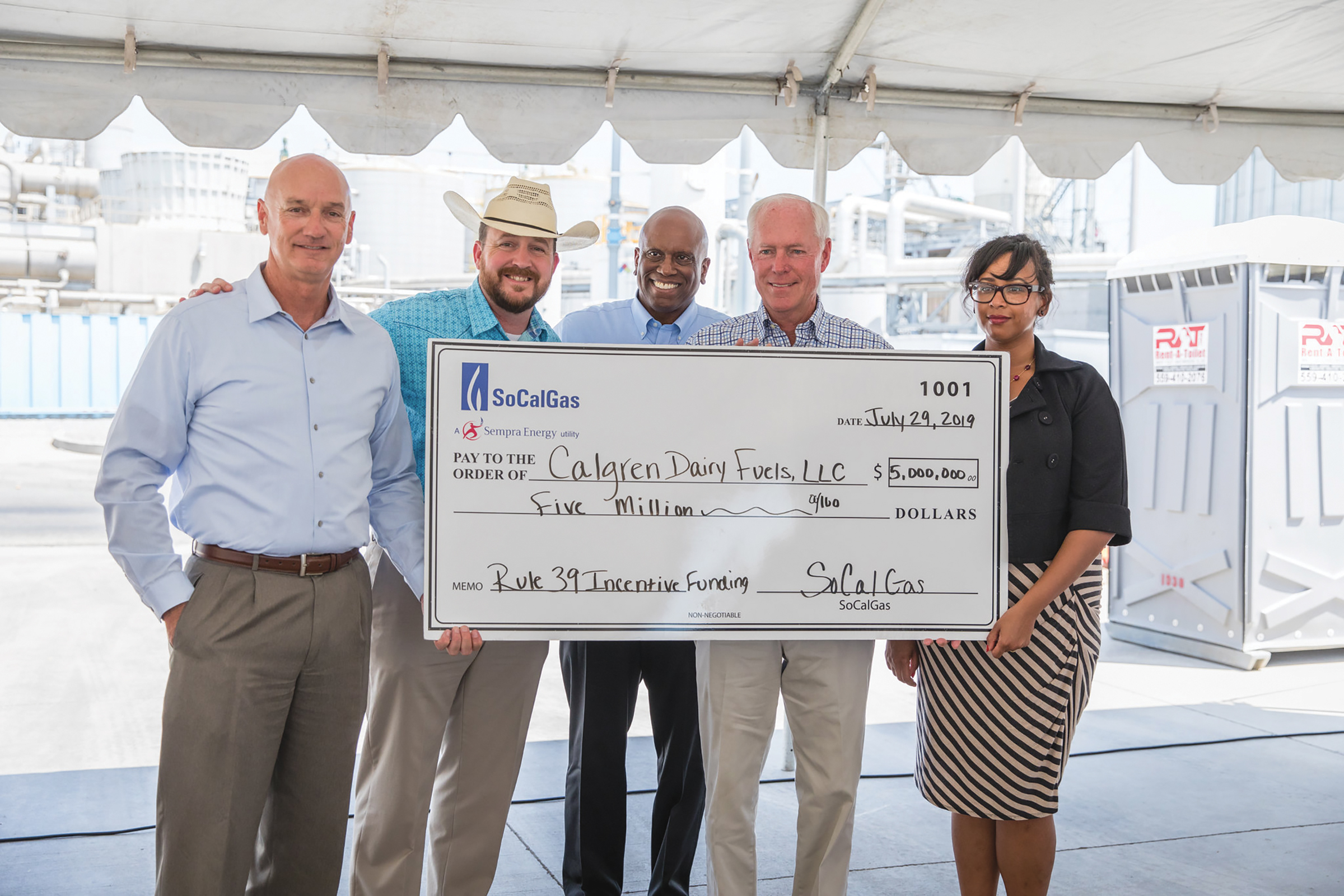 """SoCalGas & Calgren Announce Complete of Dairy Renewable Natural Gas Facility. To view more photos of this event just scan over this photo using your """"Observer Interactive"""" App! (SoCalGas Courtesy Photo)"""