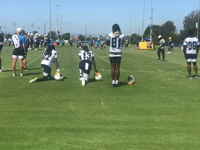 Chargers Wide Receivers (T Benjamin, K Allen and M Williams) looking towards a great season in 2019. (Cam Buford photo)