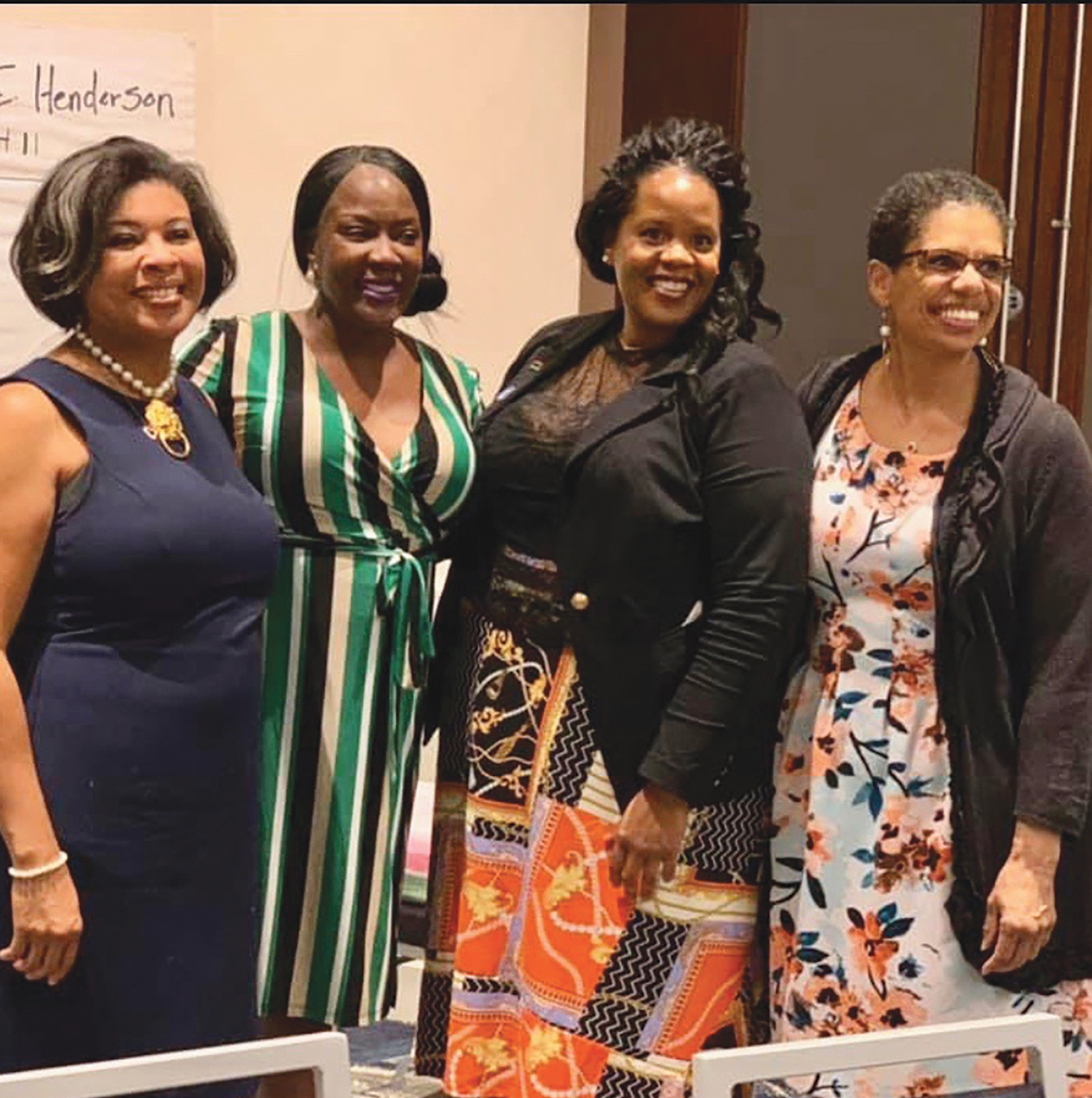 Left to Right: Kendra Lewis Vice chair, Taisha Brown chair, Lorrie Brown, recording secretary, and Cecile Nunley, treasurer. (CBM Courtesy Photo)