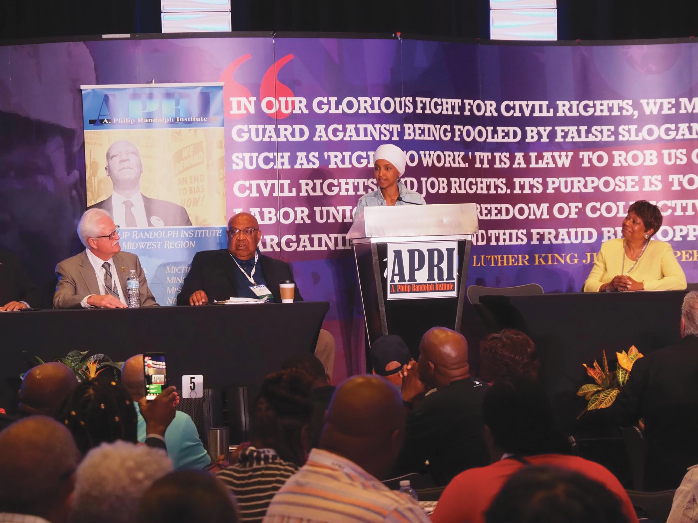 Congresswoman Ilhan Omar (D-MN) (Photo Credit: Jon Levine, APRI)