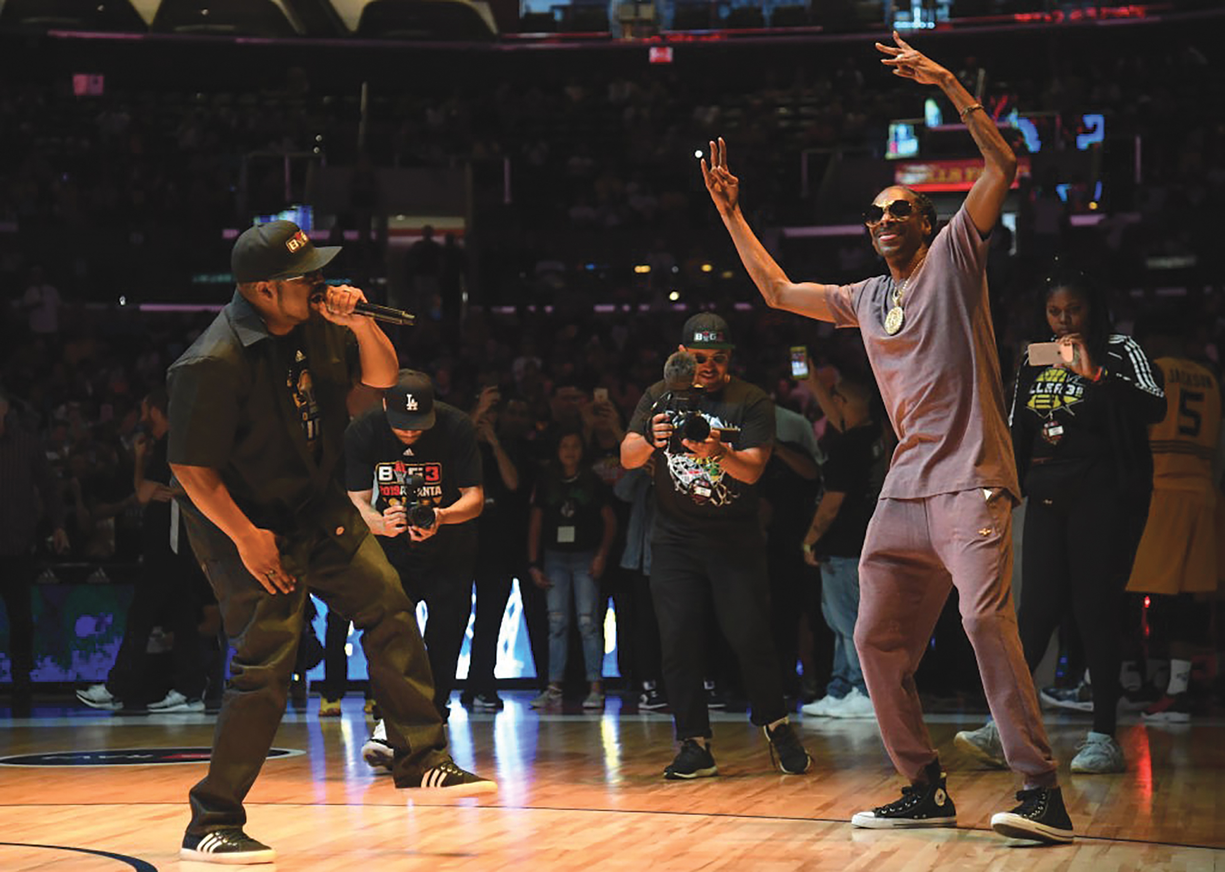 Ice Cube and Snoop Dogg perform during 2019 BIG3 Championship Weekend. (Getty Images)