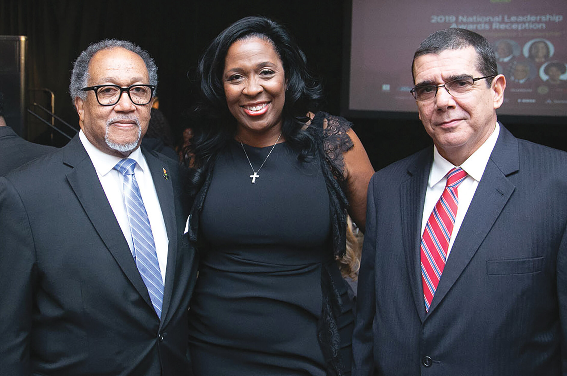 """""""We are delighted to celebrate this year's honorees,"""" said NNPA Chair and Houston Forward Times Publisher Karen Carter Richards (center). Pictured with NNPA President and CEO, Dr. Benjamin F. Chavis Jr. (left) and Cuban Ambassador to the United States, José Ramón Cabañas (right)."""