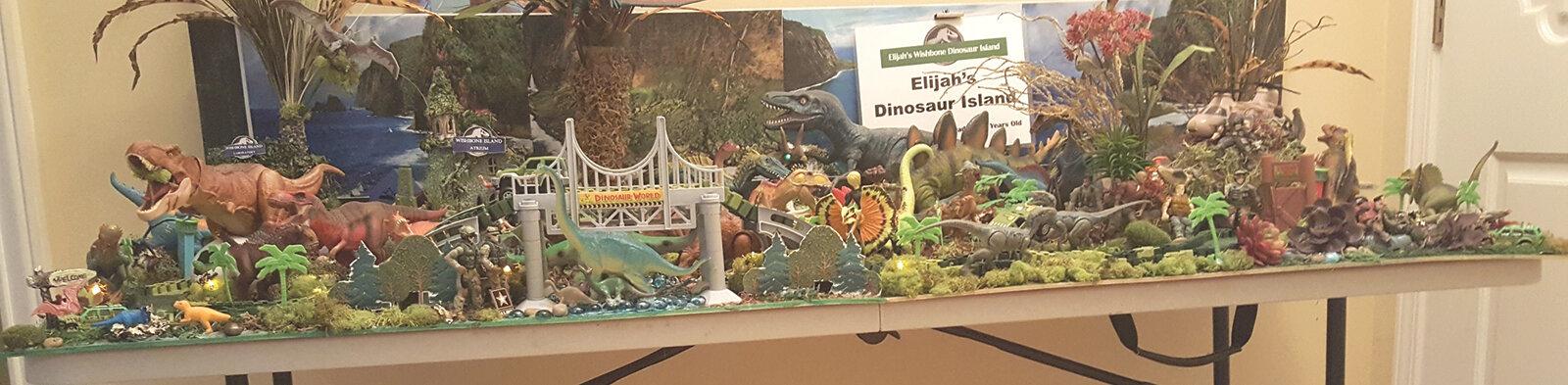 Elijahs Dinosaur Island Exhibit. (Courtesy Photo)