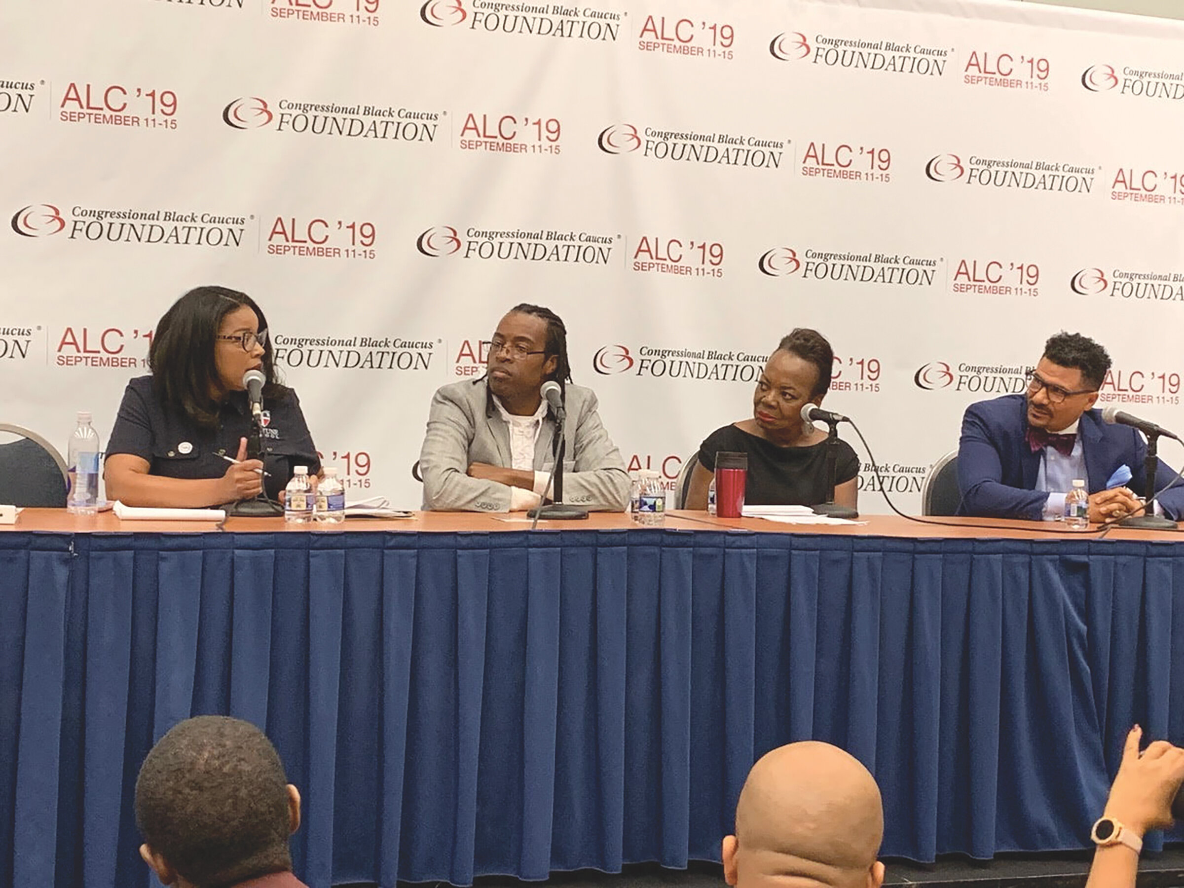 Photo caption: Dr. Margaret Fortune, President and CEO, Fortune School of Education, Shawn Hardnett, CEO & Founder, Statesmen College Preparatory Academy For Boys, Dr. Elizabeth A. Davis, President, Washington Teachers' Union and Dr. Steve Perry, Educator and Motivational Speaker.