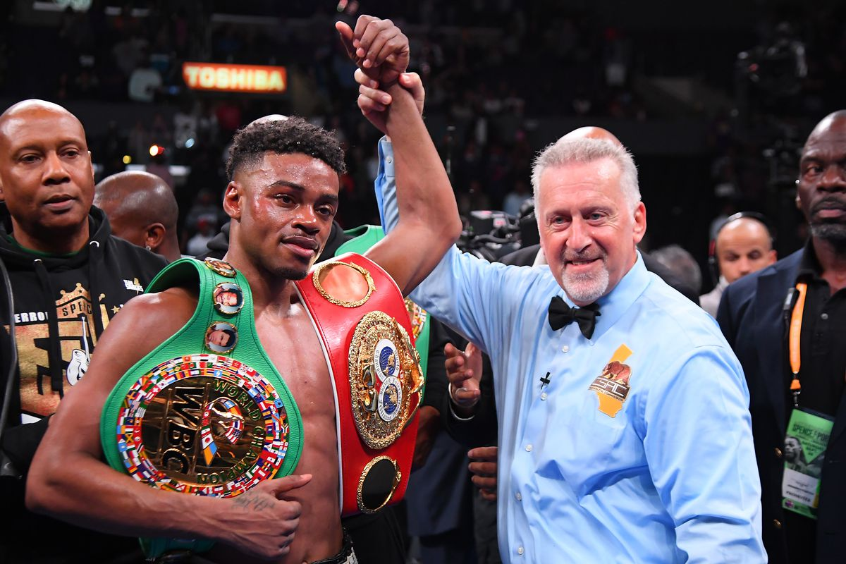 Errol Spence Jr. wins the IBF and WBC Unification bout at Staples Center in Los Angeles. (Photo by Jayne Kamin-Oncea/Getty Images)