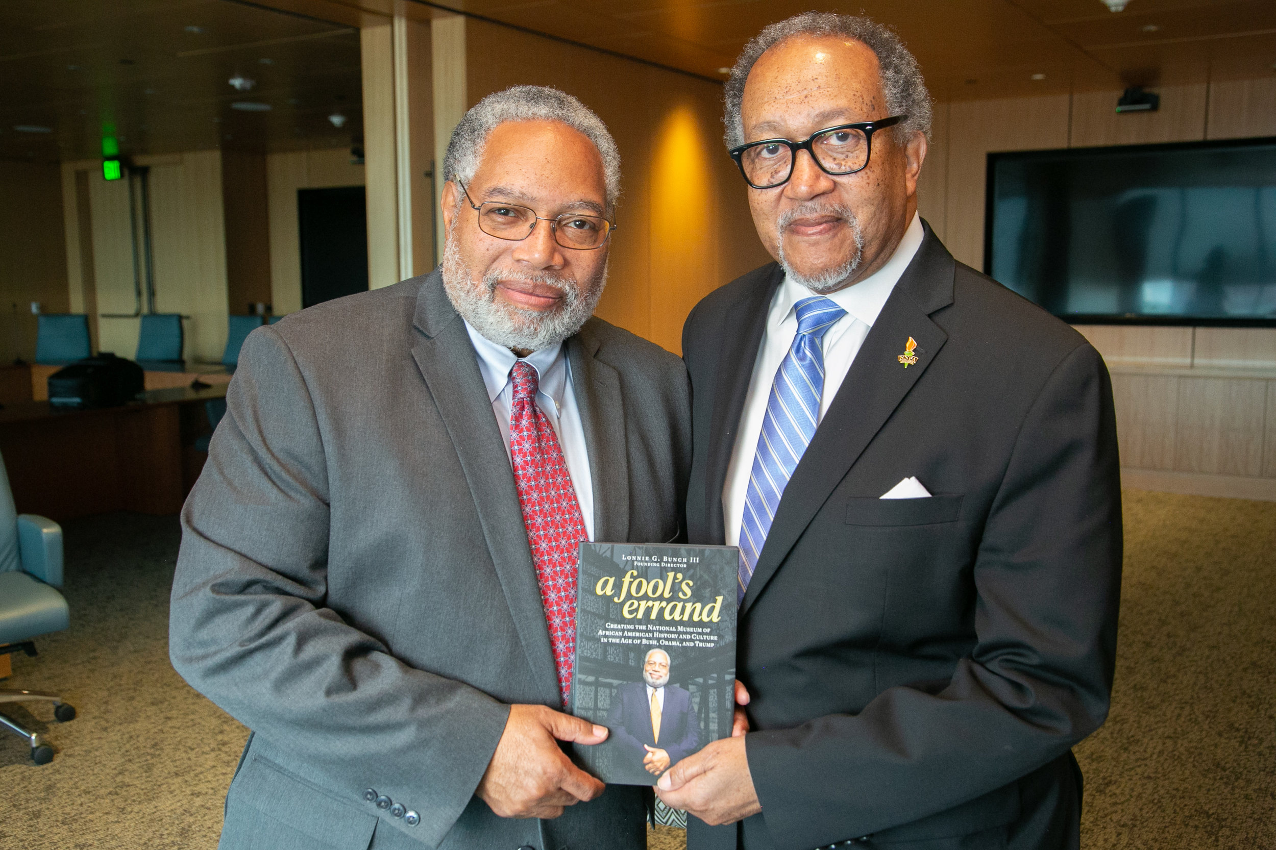 """Dr. Lonnie Bunch III, the 14th Secretary of the Smithsonian Institution, sat down for an exclusive interview with National Newspaper Publishers Association (NNPA) President and CEO Dr. Benjamin F. Chavis, Jr. The two discussed Bunch's timely new book released today, """"A Fool's Errand: Creating the National Museum of African American History and Culture in the Age of Bush, Obama, and Trump."""""""