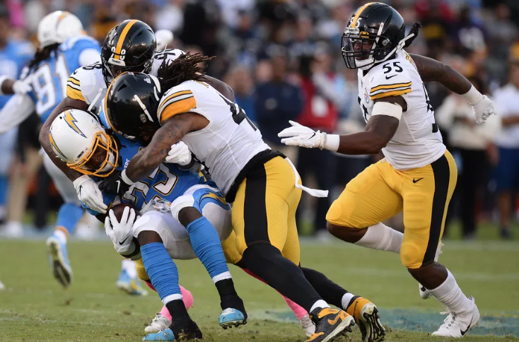 The Pittsburg Steelers upend the Los Angeles Chargers on Sunday Night. (Gary A. Vasquez-USA TODAY Sports)