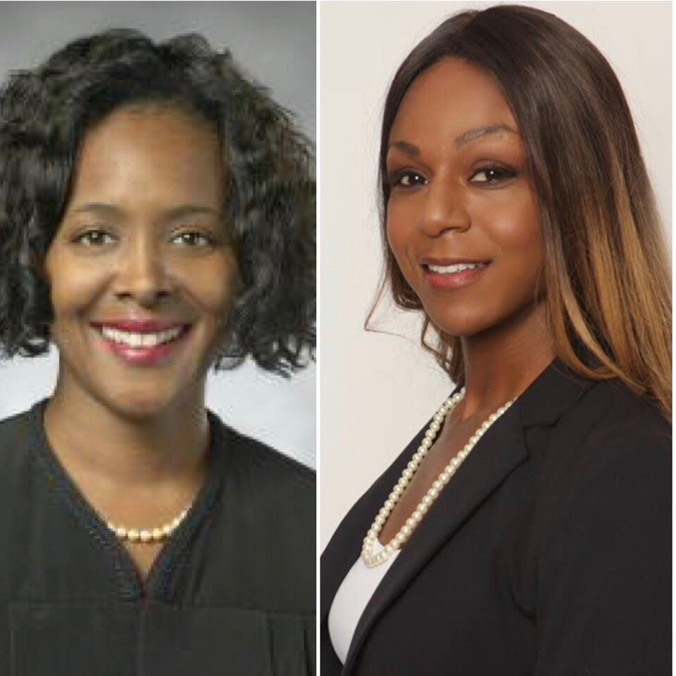 Hon. Terrie E. Roberts and Hon.Tricia J. Taylor (Courtesy Photo)