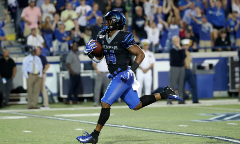 Antonio Gipson had a record setting night for Memphis with 386 all-purpose yards in a 54-48 win over SMU. (Courtesy Photo)