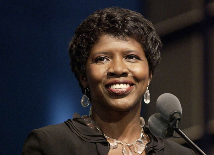 Gwen Ifill during the 25th Annual NATAS News and Documentary Emmys Sept. 13, 2004, in New York. (Marc Bryan-brown/WireImage/Getty Images). The stamp features a photo of Ifill taken in 2008 by photographer Robert Severi and designed by Derry Noyes, according to the Postal Service.