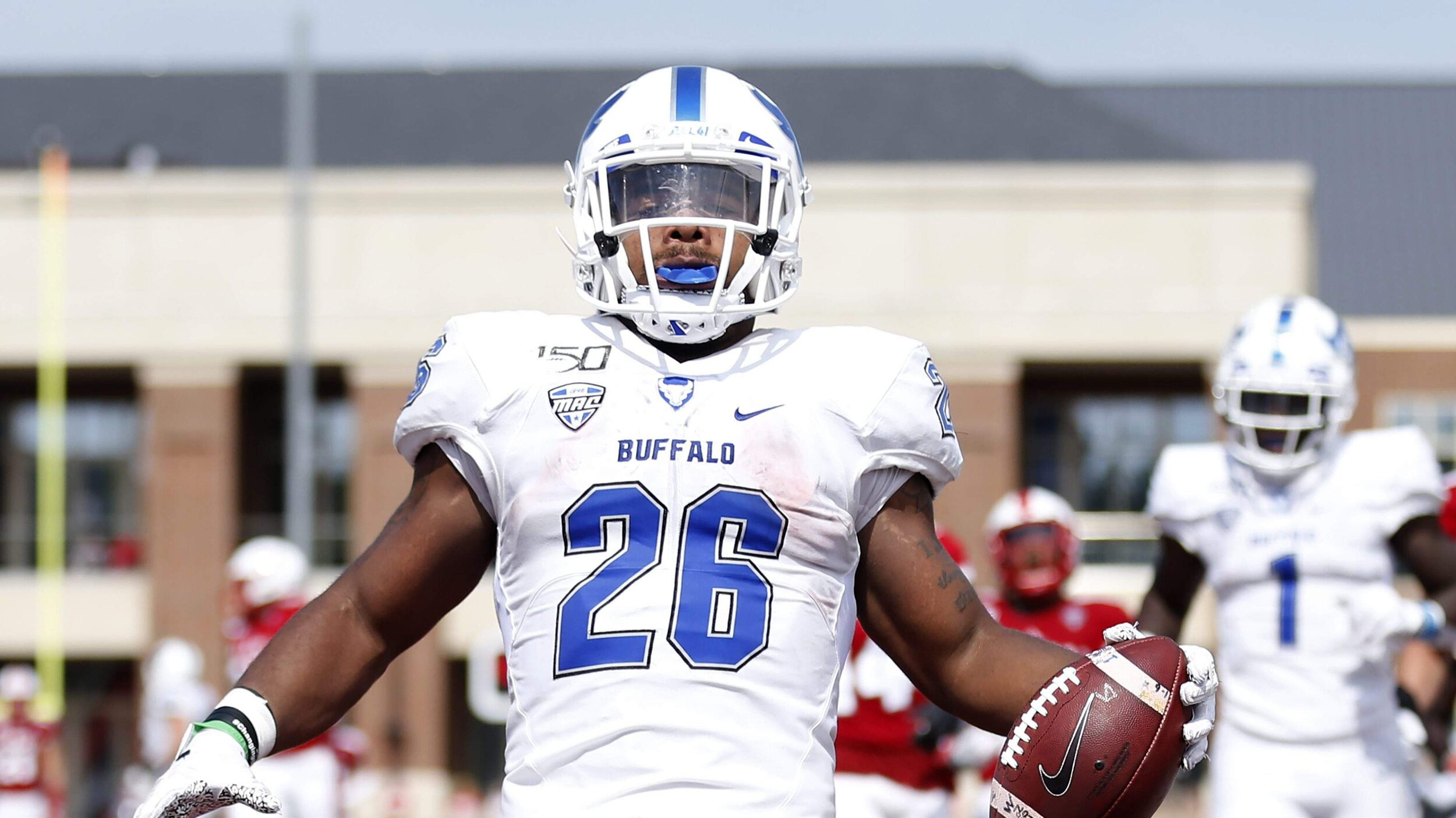 Jaret Patterson (26) Was the first U of Buffalo player to win Walter Camp Player of the Week. (Courtesy Photo)