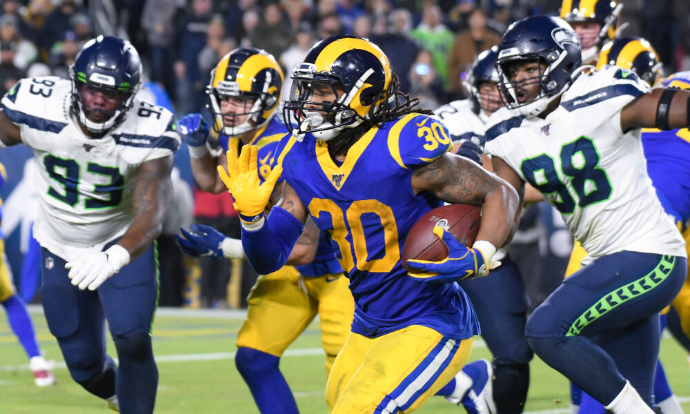 Rams running back Todd Gurley rushed for 79 yards on 23 carries in Sundays win. (Courtesy Photo)