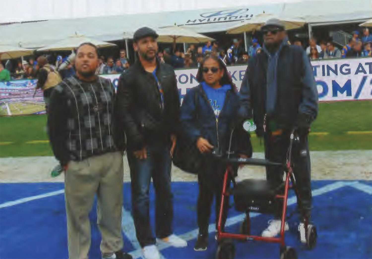Kenny Washington's family was on hand as he was honored as Ram