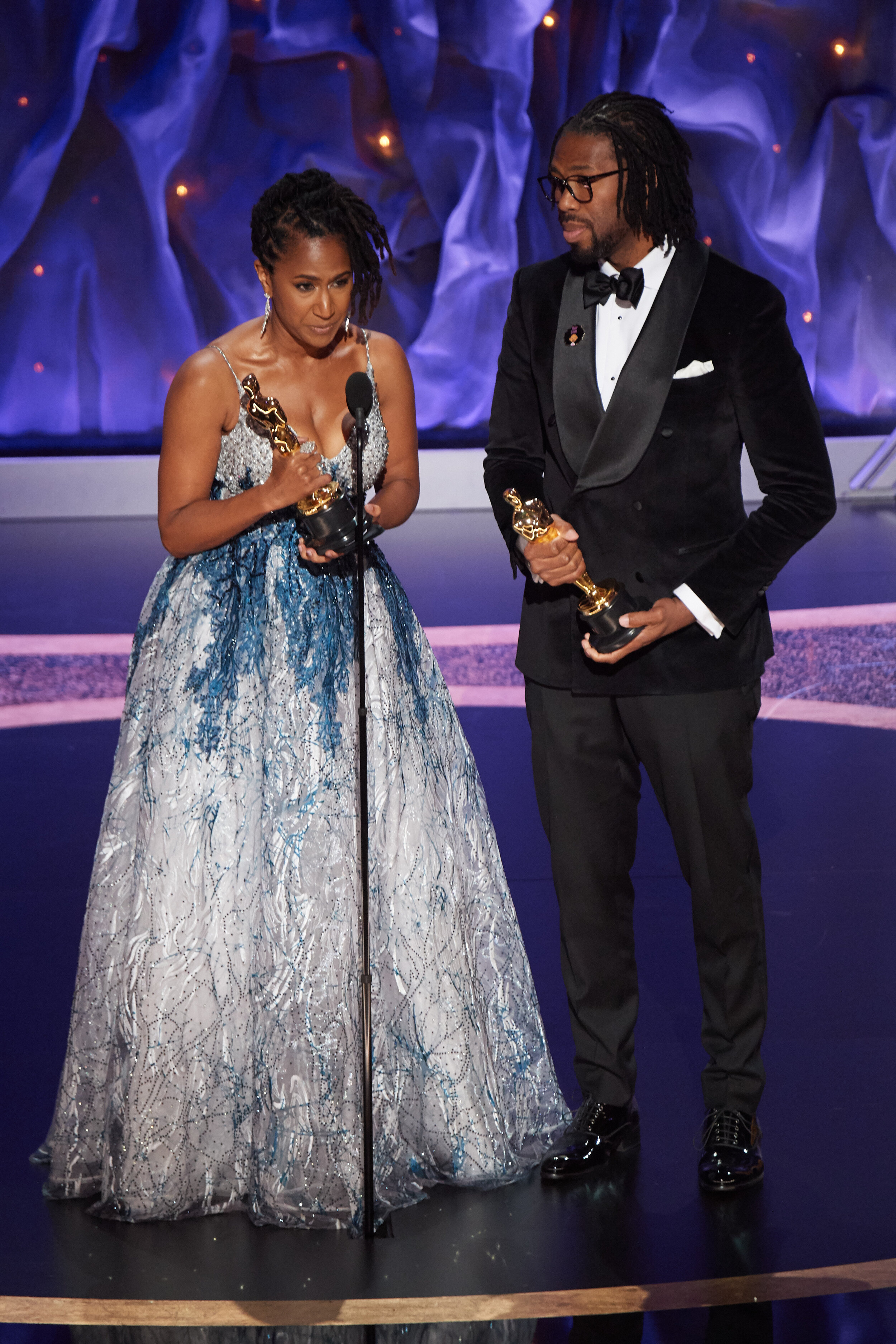 Karen Rupert Toliver and Matthew A. Cherry accept the Oscar® for Animated Short Film during the live ABC Telecast of The 92nd Oscars® at the Dolby® Theatre in Hollywood, CA on Sunday, February 9, 2020. (Photo Credit)