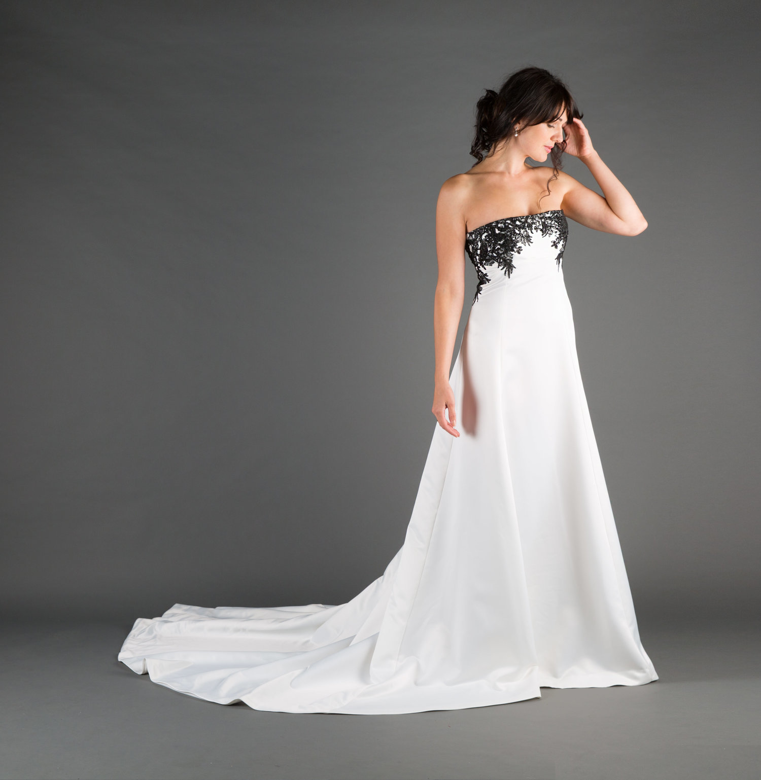 Bridal Gowns Wedding Dresses Ivory Black