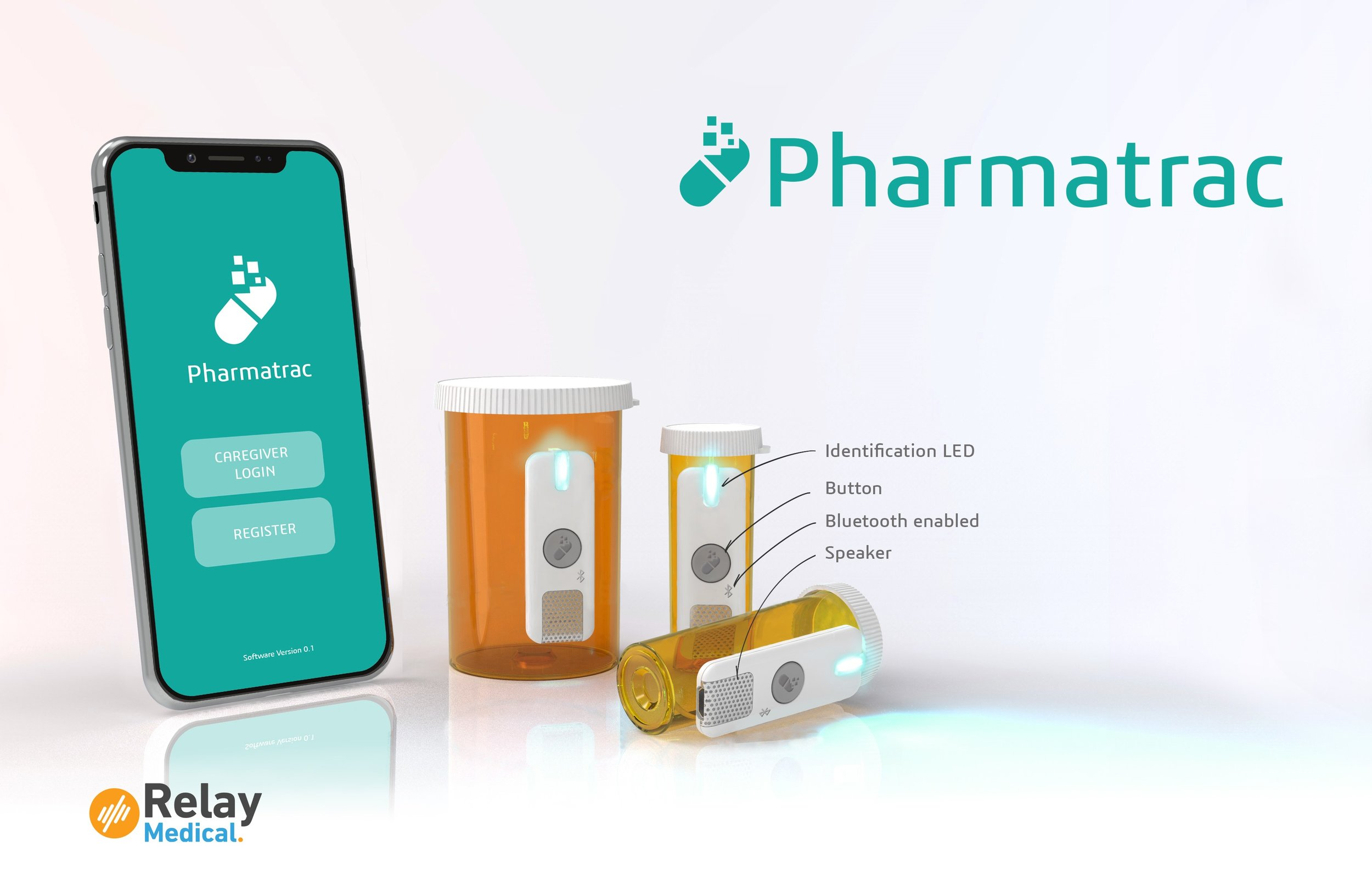 Pharmatrac Digital Label - Hardware Rendering