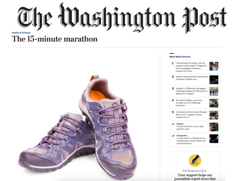 The Washington Post: The 15-minute marathon