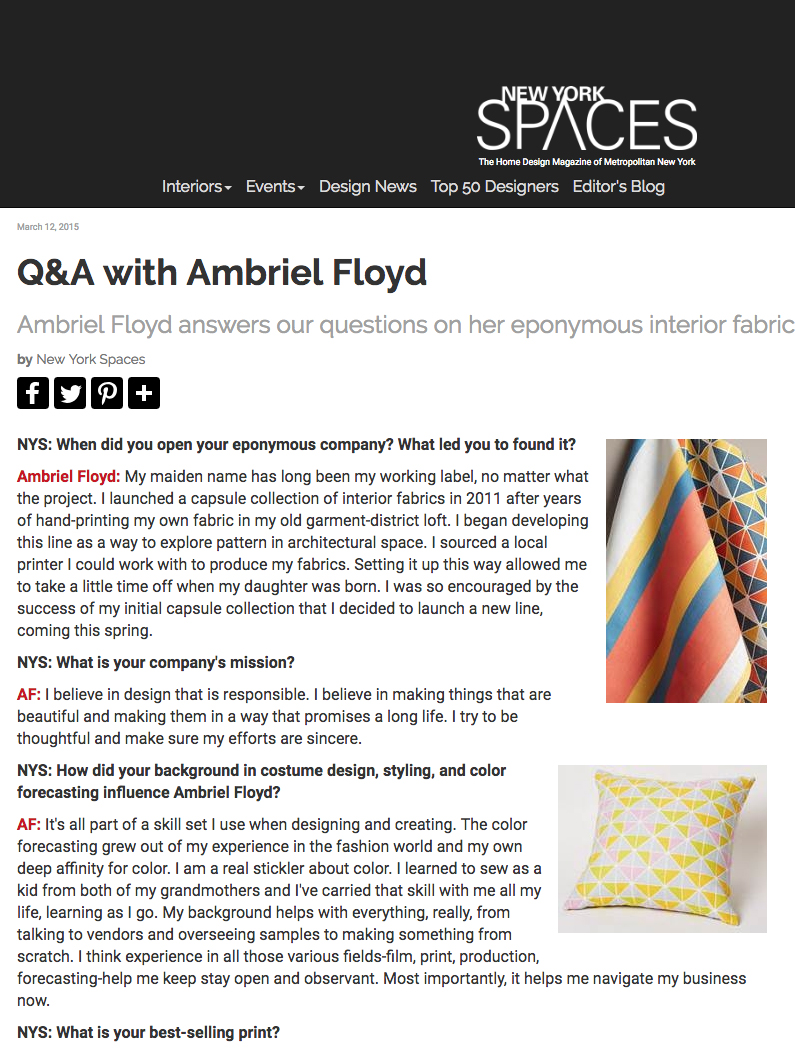 New York Spaces   Design Dose: Q&A with Ambriel Floyd