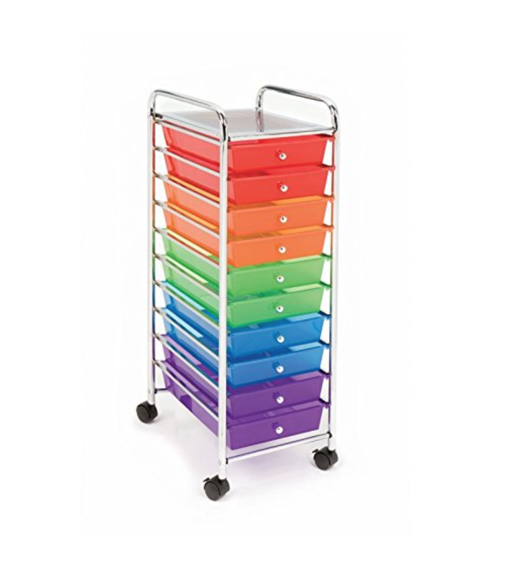 Rainbow storage cart