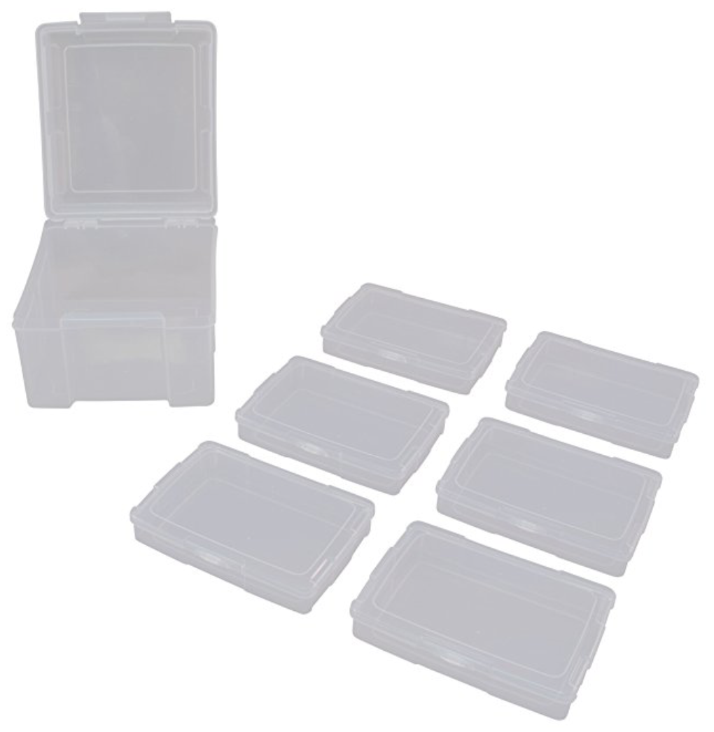 Photo Storage Boxes - From Amazon: Great for storing task cards and sorts!