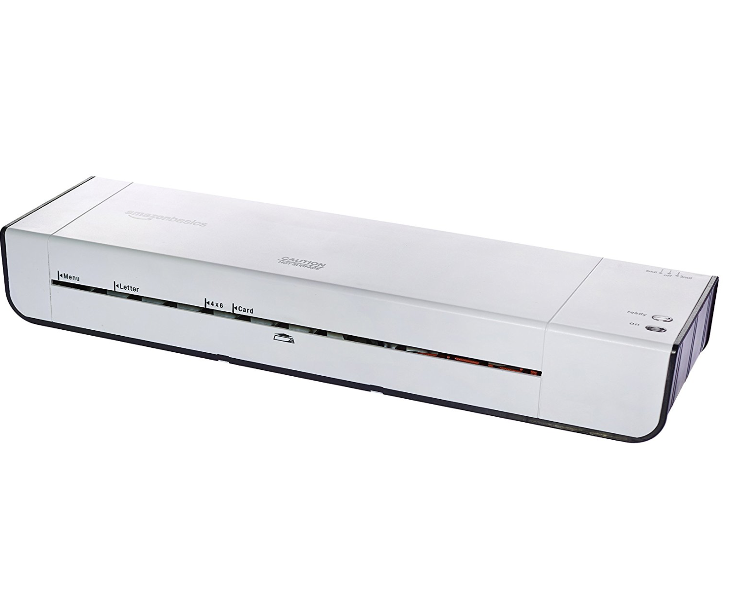 The Amazon Basics Laminator - From Amazon: You can't go wrong with this laminator. We have put it through just about everything, and when you factor in price, this personal pouch laminator wins hands down.