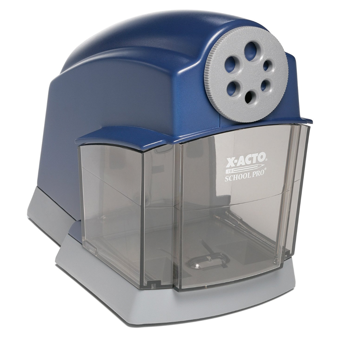 X-ACTO School Pro Electric Pencil Sharpener - From Amazon: This is THE electric pencil sharpener. This is the electric pencil you will find in every classroom! It is quite, durable, and fast. (Plus, it's really hard to beat the price.)