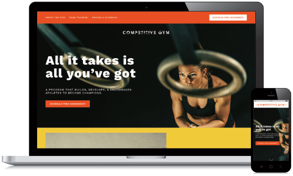 Competitive Gym Website