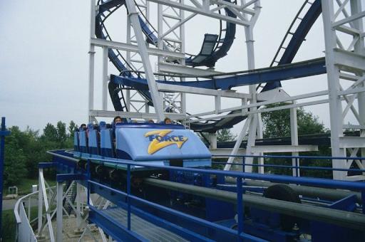 Z-Force's train on the brake run.