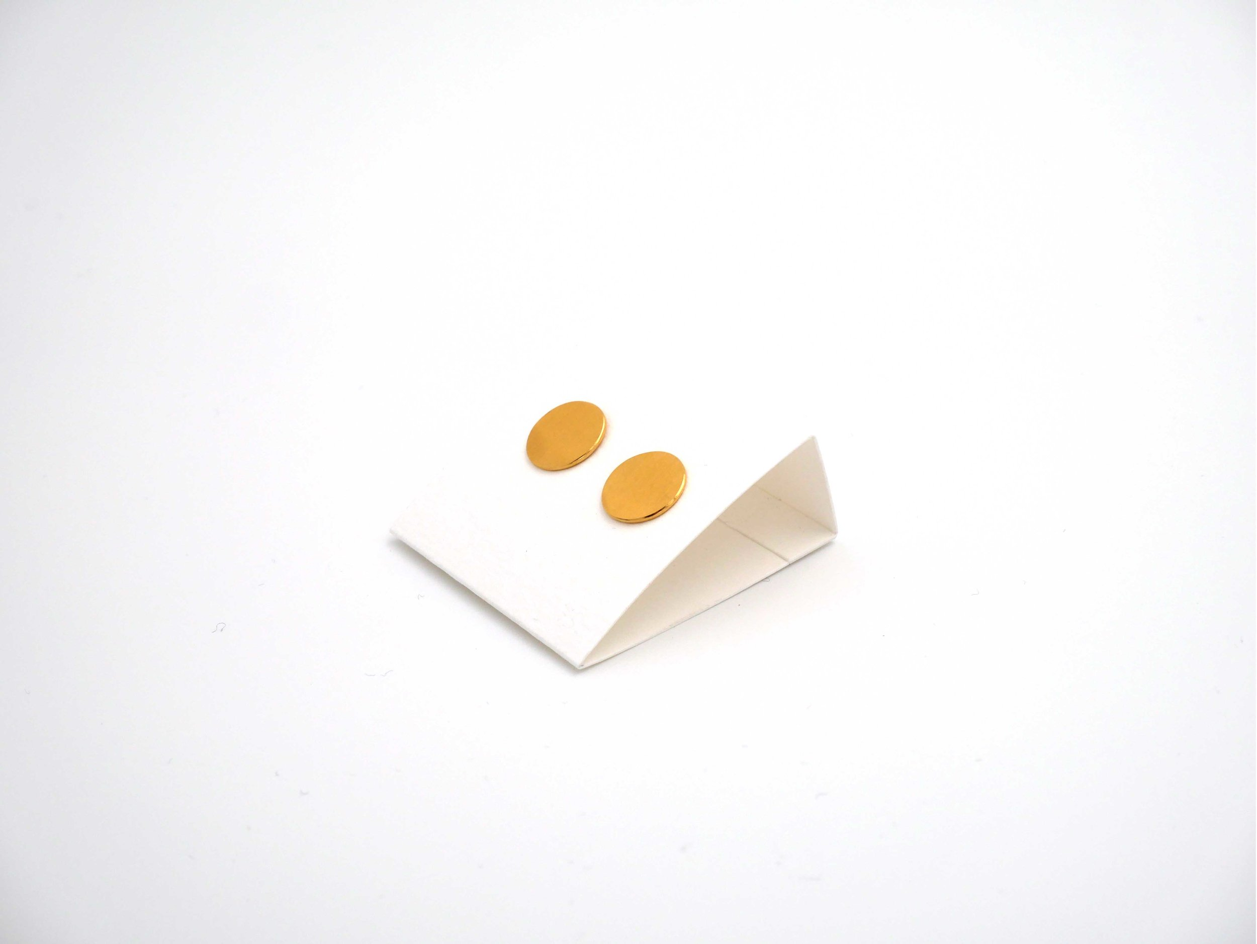 Bijoux de mariage - Boucles d'oreilles, argent plaqué or jaune
