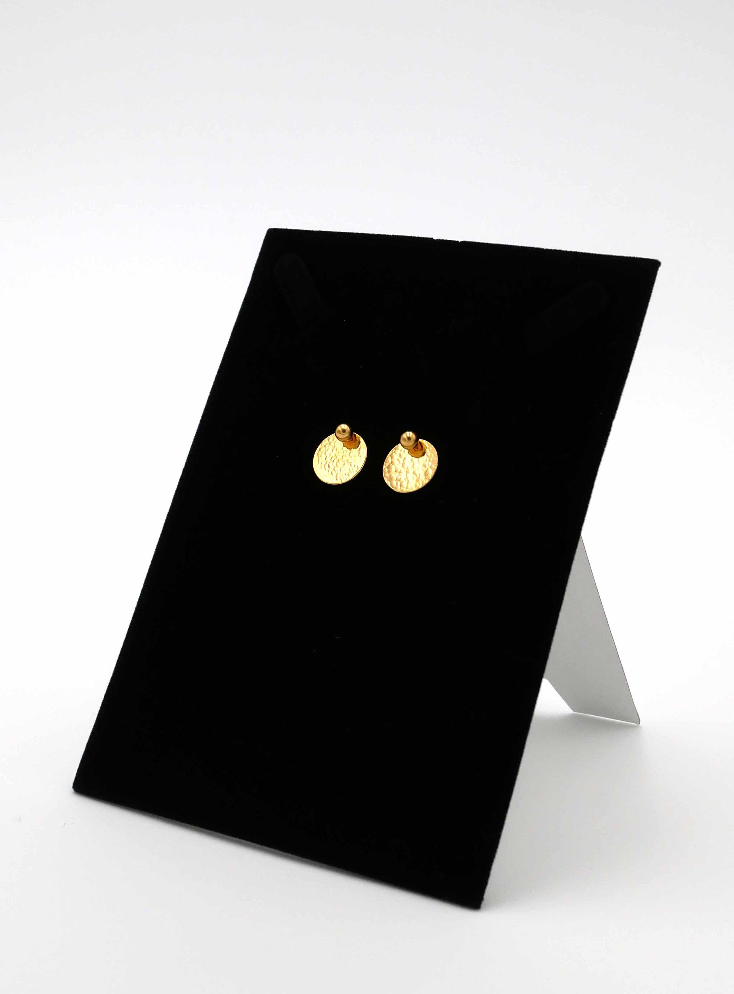 Boucle d'oreilles - argent plaqué or jaune